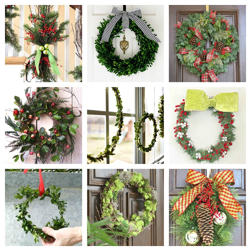 Easy diy christmas wreaths for around the home for How to decorate a christmas wreath