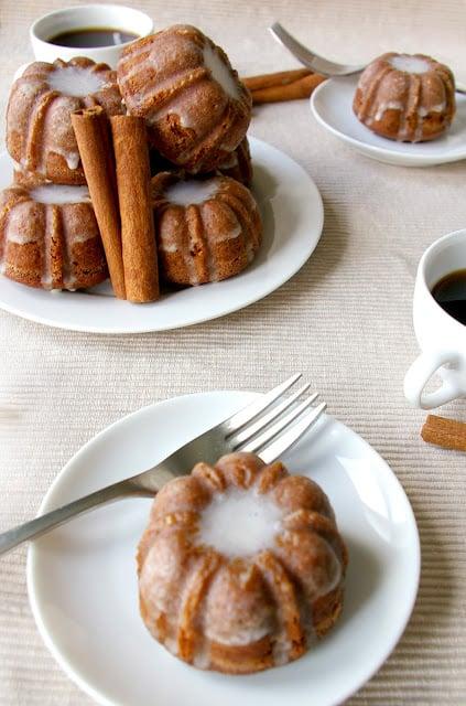 Gingerbread Bundt Mini Cakes