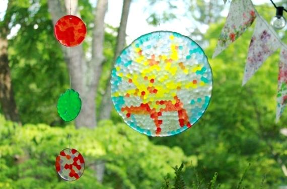 Melted bead sun-catchers