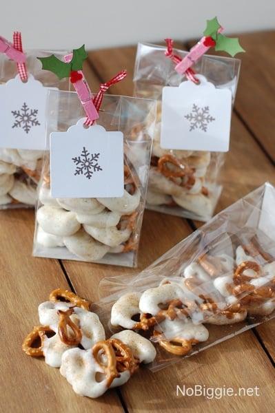 White Chocolate and Caramel Pretzel. Homemade Gift Idea.