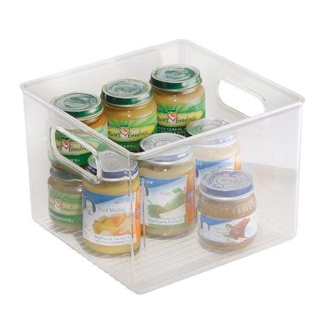 Clear storage bins