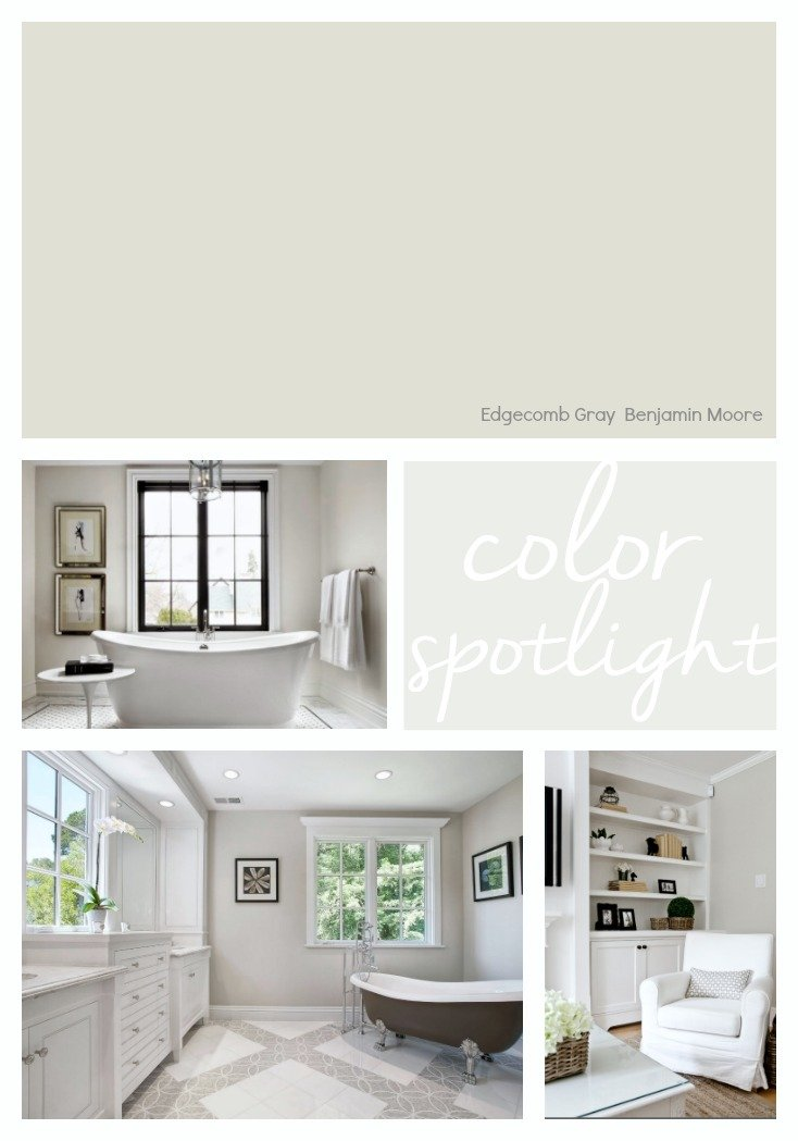 Benjamin Moore Edgecomb Gray. One of the most versatile paint colors out there.
