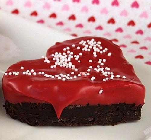 Chocolate-Dipped Heart Brownies