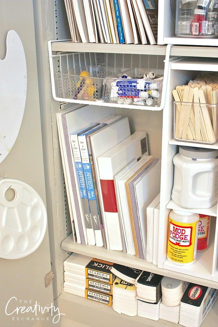 Creative craft storage ideas.
