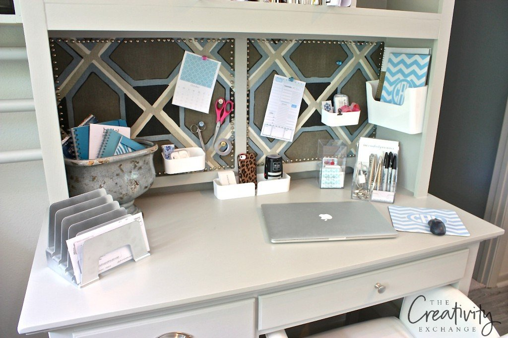 Creative office and desk organizing solutions.