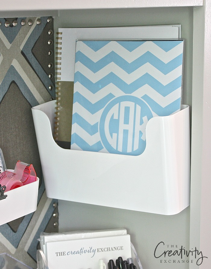 Creative organizing solution for office and desk.