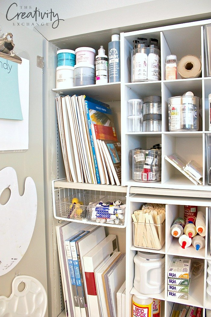 Creative storage ideas for craft supplies and paint
