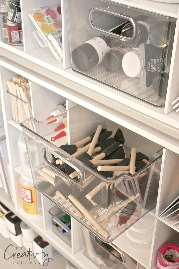 Creative ways to organize craft supplies.