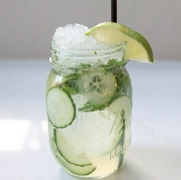 Cucumber + Lime Detox Water
