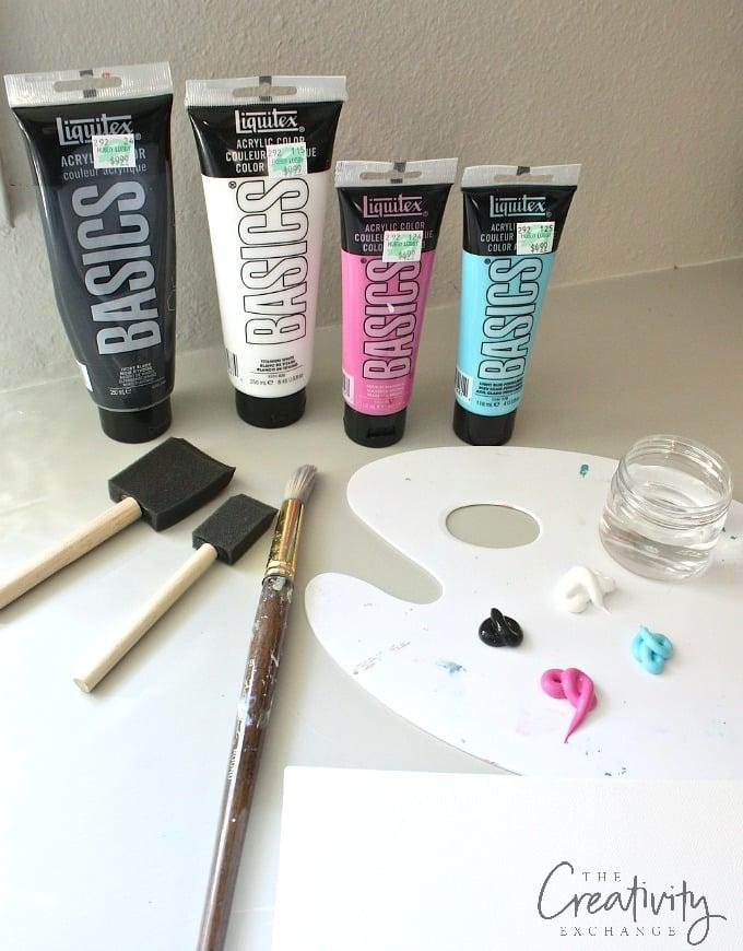 DIY heart acrylic painting tutorial.