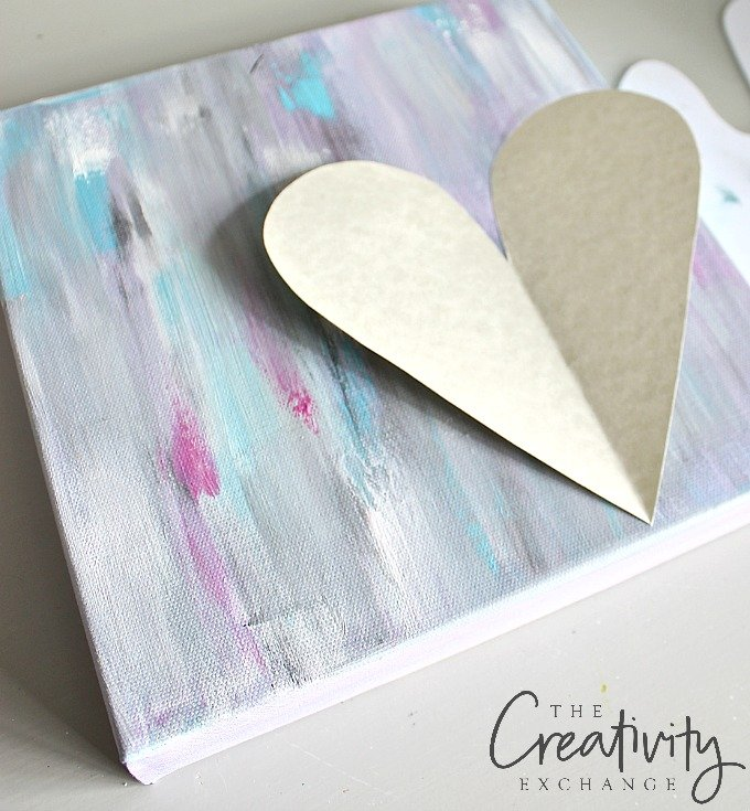 DIY heart acrylic painting tutorial. Creating the heart stencil.