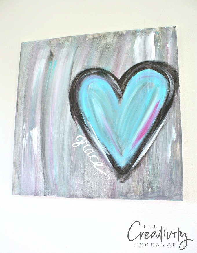 Easy DIY Abstract Heart Painting Tutorial