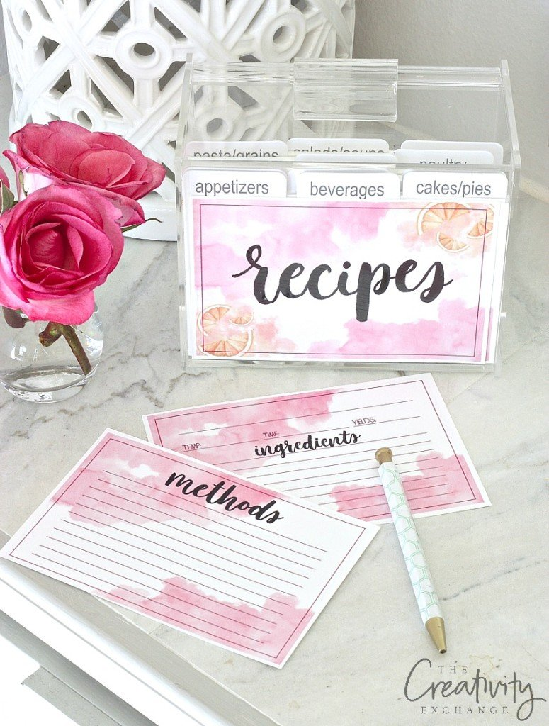 It's just a graphic of Amazing Recipe Cards Printable