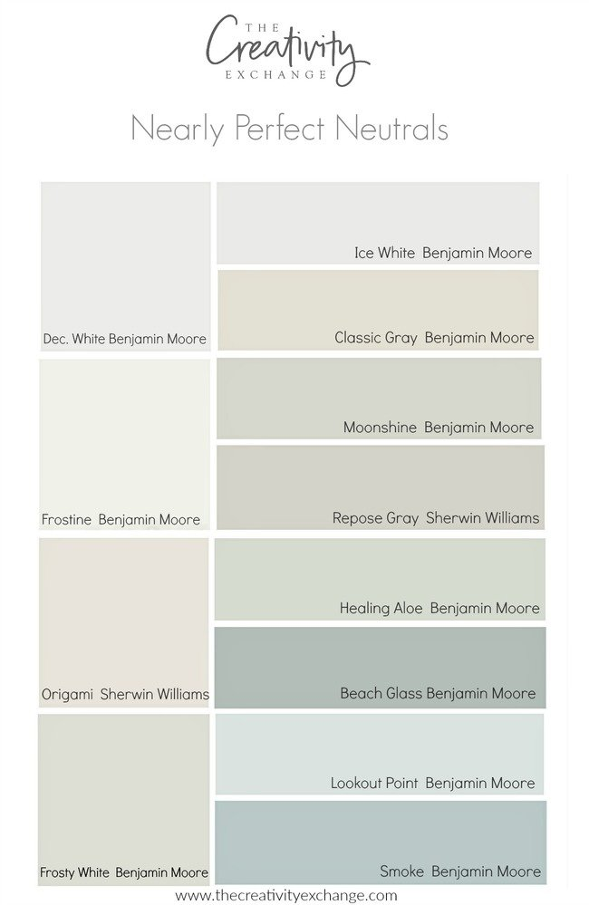 Nearly perfect neutral paint colors for Neutral tone paint colors