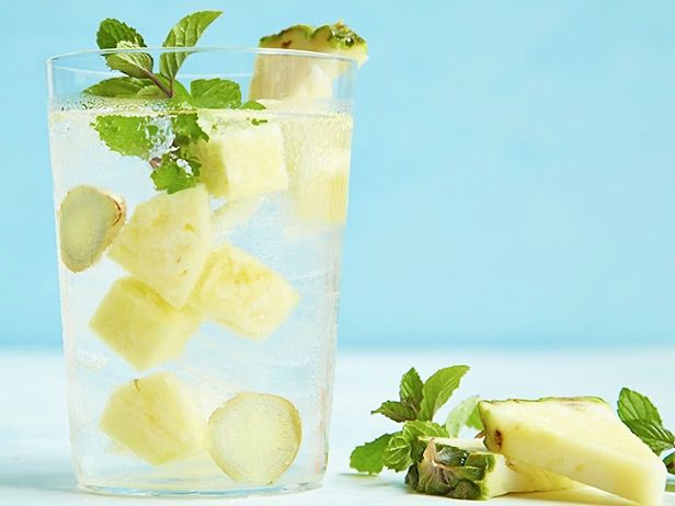 Pineapple-Mint-Ginger Water