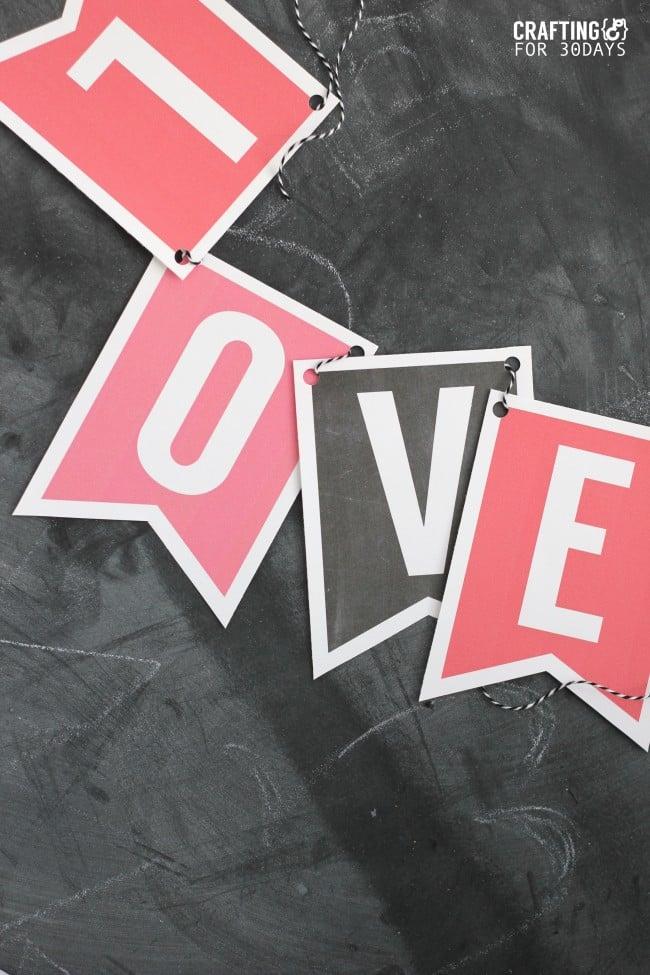 Printable Love Banner