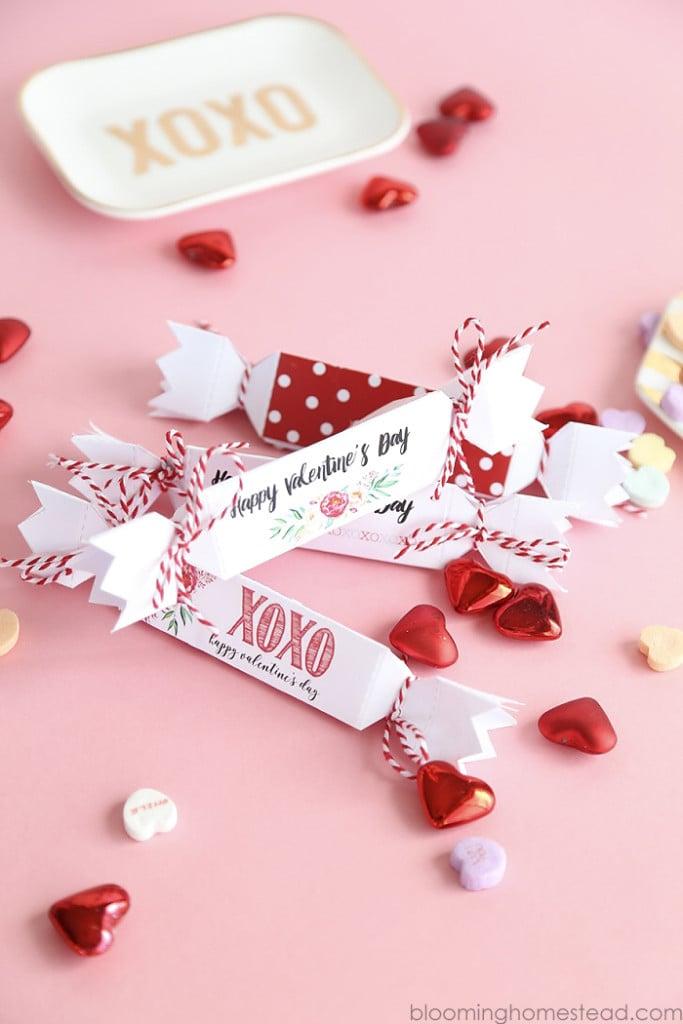 Printable Valentine Favor Boxes