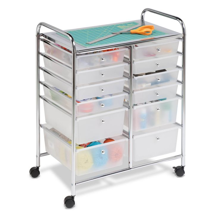 creative ways to organize craft supplies and paint On rolling craft storage cart