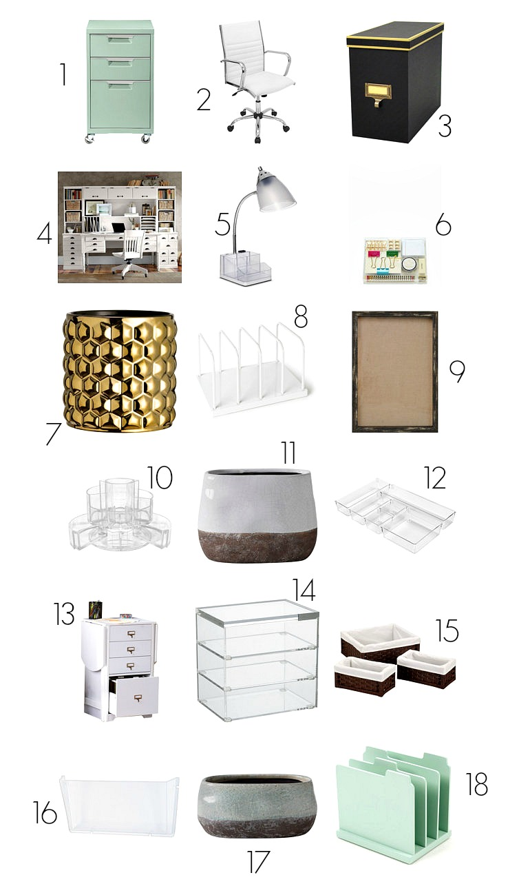 Creative office and desk organizing solutions with a lot of storage
