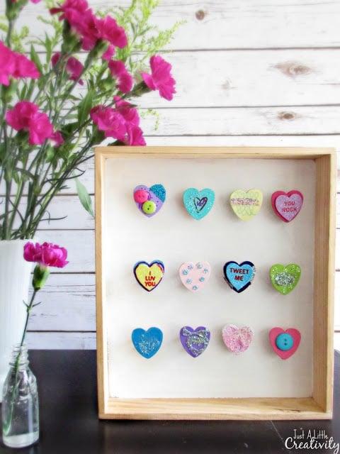 Valentine's Day Shadow Box Art