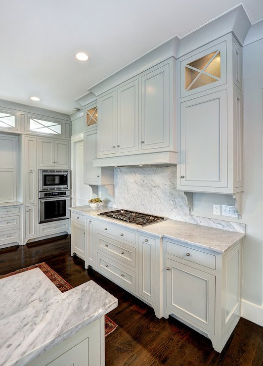 Most popular cabinet paint colors Touch of grey benjamin moore