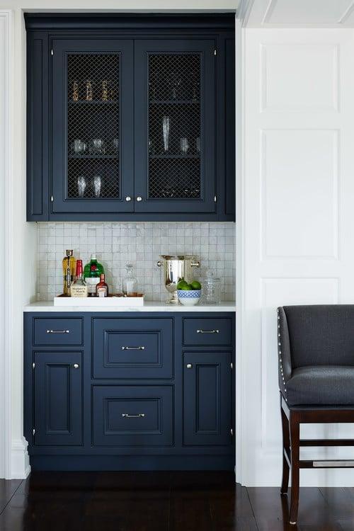Navy Blue Kitchen Cabinets Paint Color