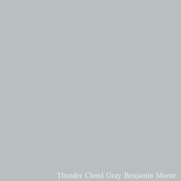 Thunder Cloud Gray Benjamin Moore.