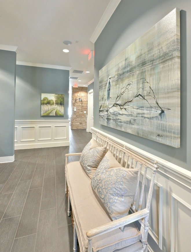 Wall Color Is Benajmin Moore Sea Pines Heather Scott