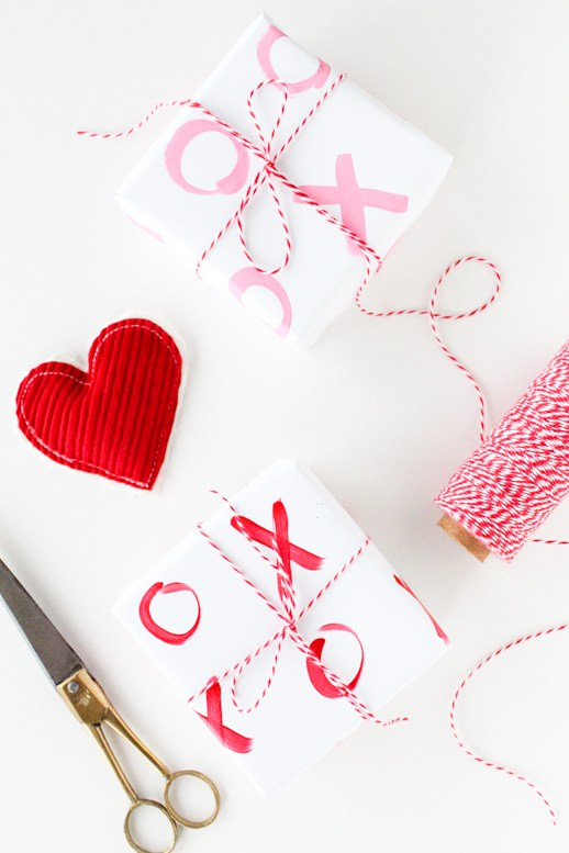 DIY Valentine's Wrapping Paper.