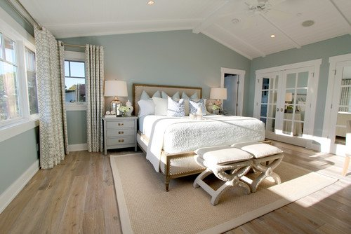 Bedroom wall color is Wedgewood Gray Benjamin Moore. Nagwa Seif Interiors