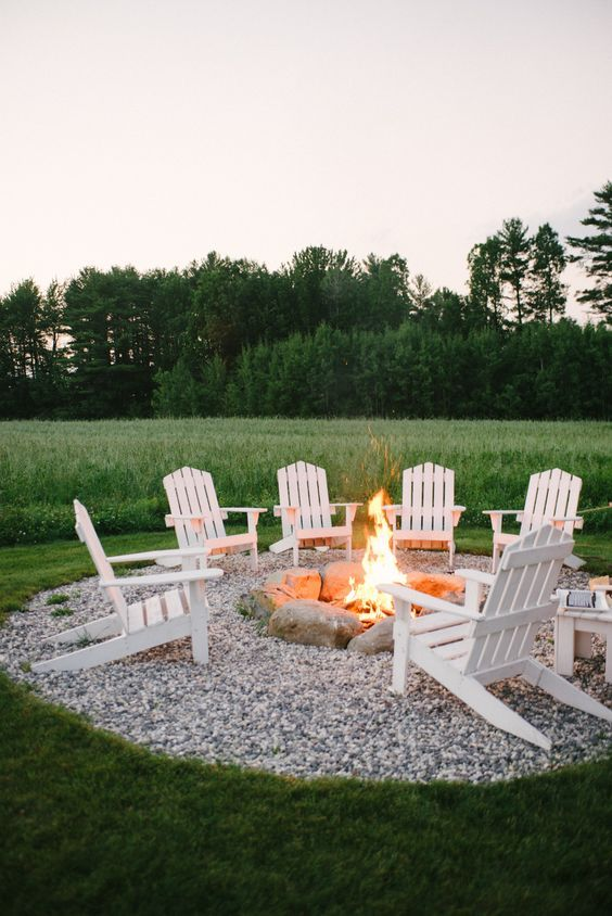 Create A Beautiful Outdoor Seating Area With Gravel And A Fire Pit. From  Style Me