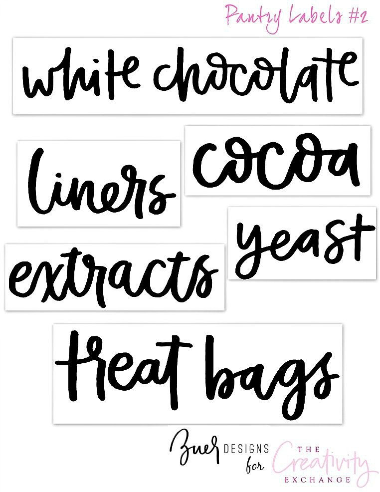 image regarding Free Printable Pantry Labels named Totally free Printable Pantry Labels: Hand Lettered