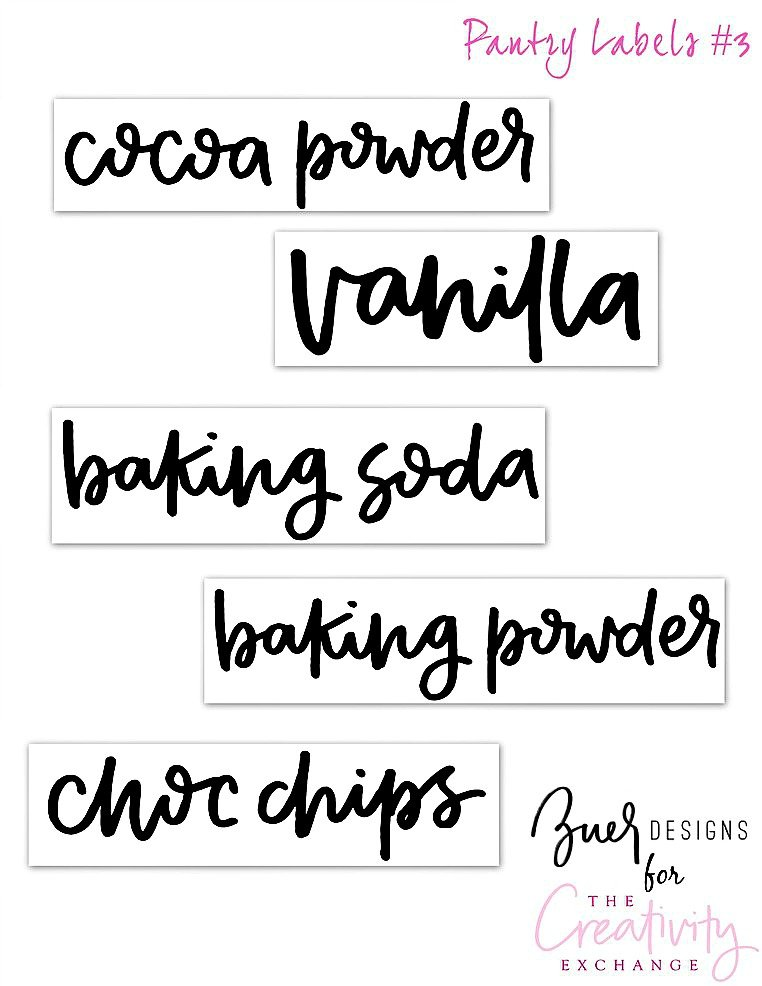 Free Printable Pantry Labels 3