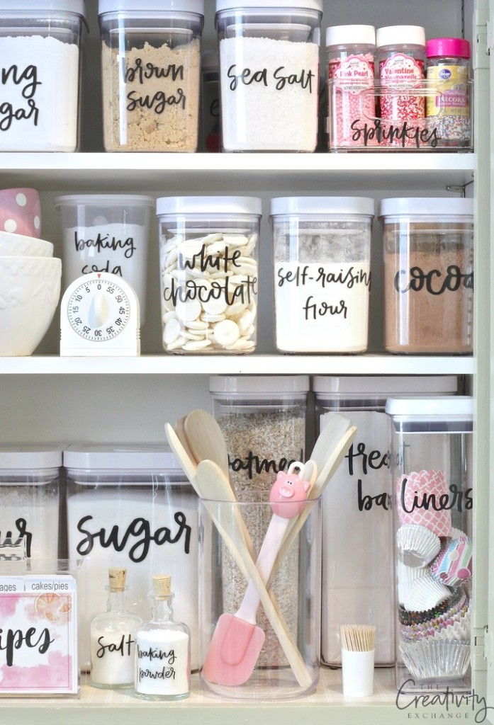 Storage Sources and Tips for Creating a Baking Cabinet