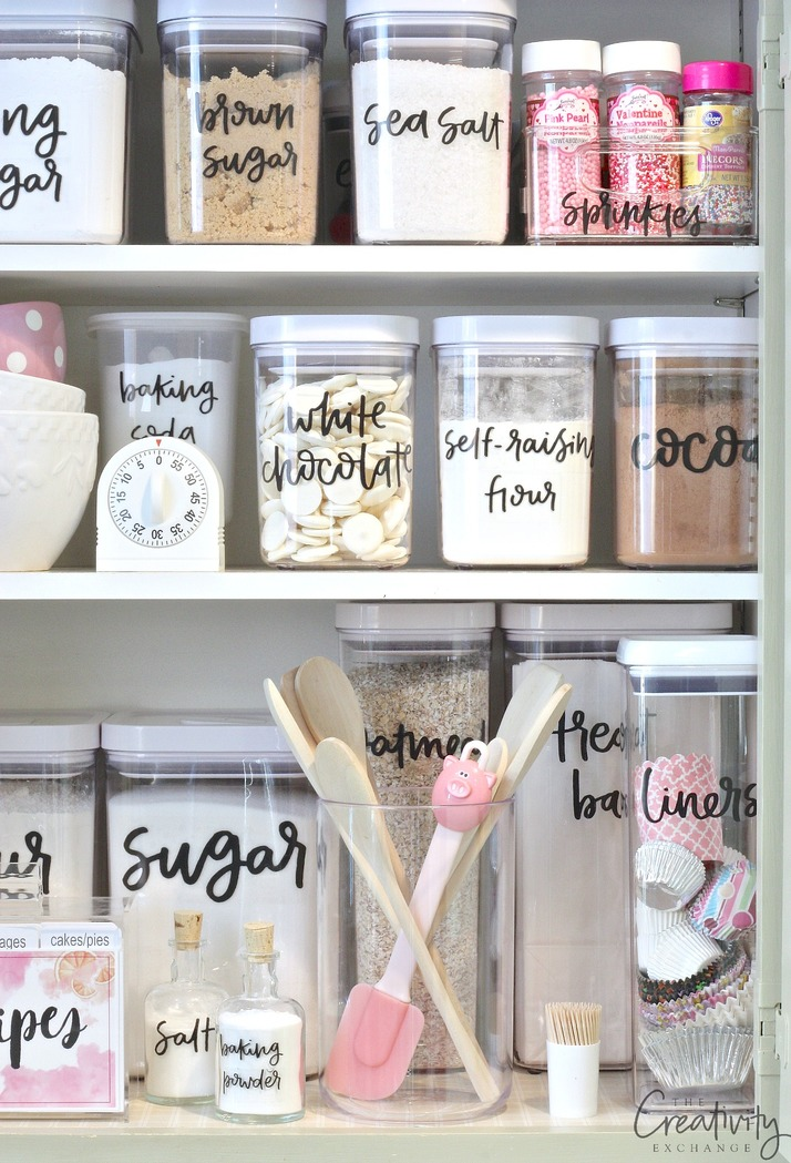 Free Printable Pantry Labels Hand Lettered By Zuer Designs Print On Clear Sticker Paper