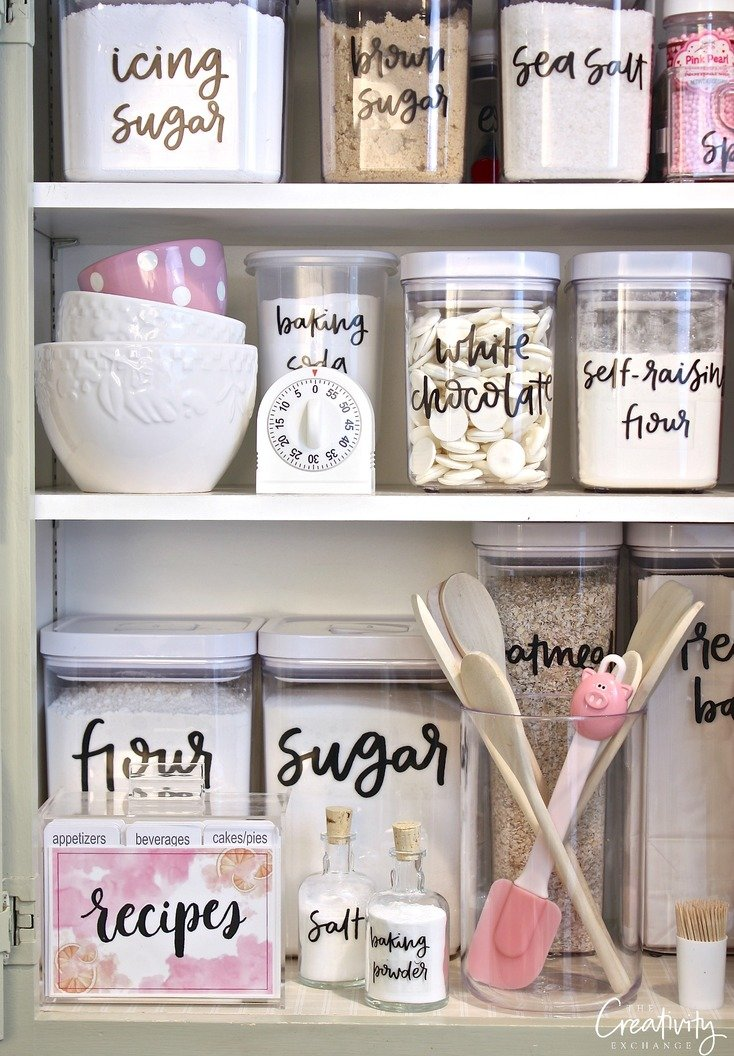 Free printable pantry labels hand lettered Home decor hacks pinterest