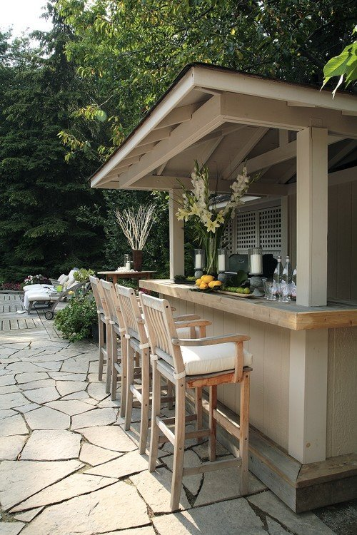 Outdoor Bar. Jackie Glass Designers.