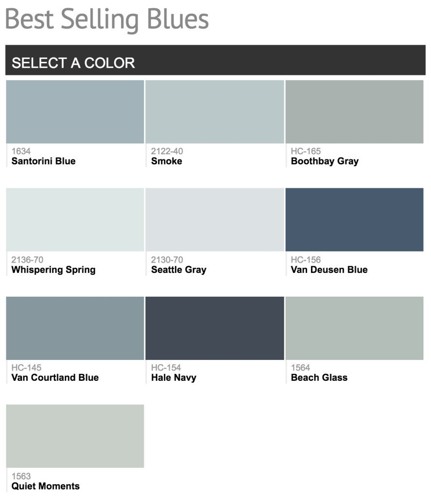 Best Ing Benjamin Moore Blue Paint Colors
