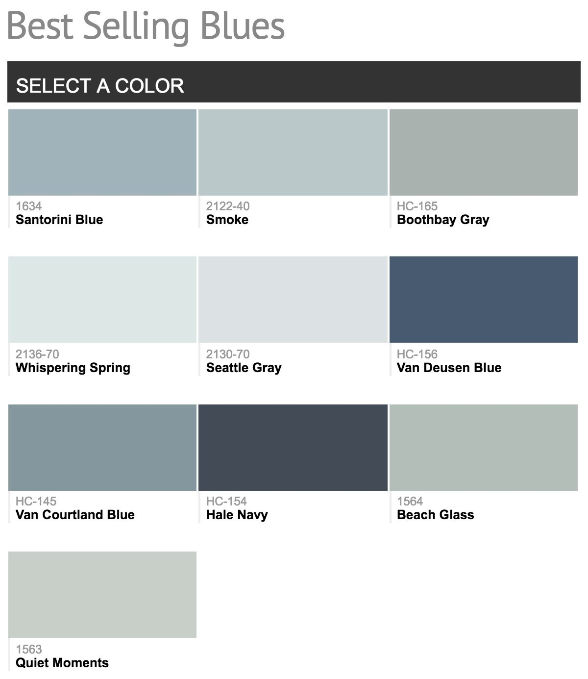 Best selling benjamin moore paint colors for Is benjamin moore paint good
