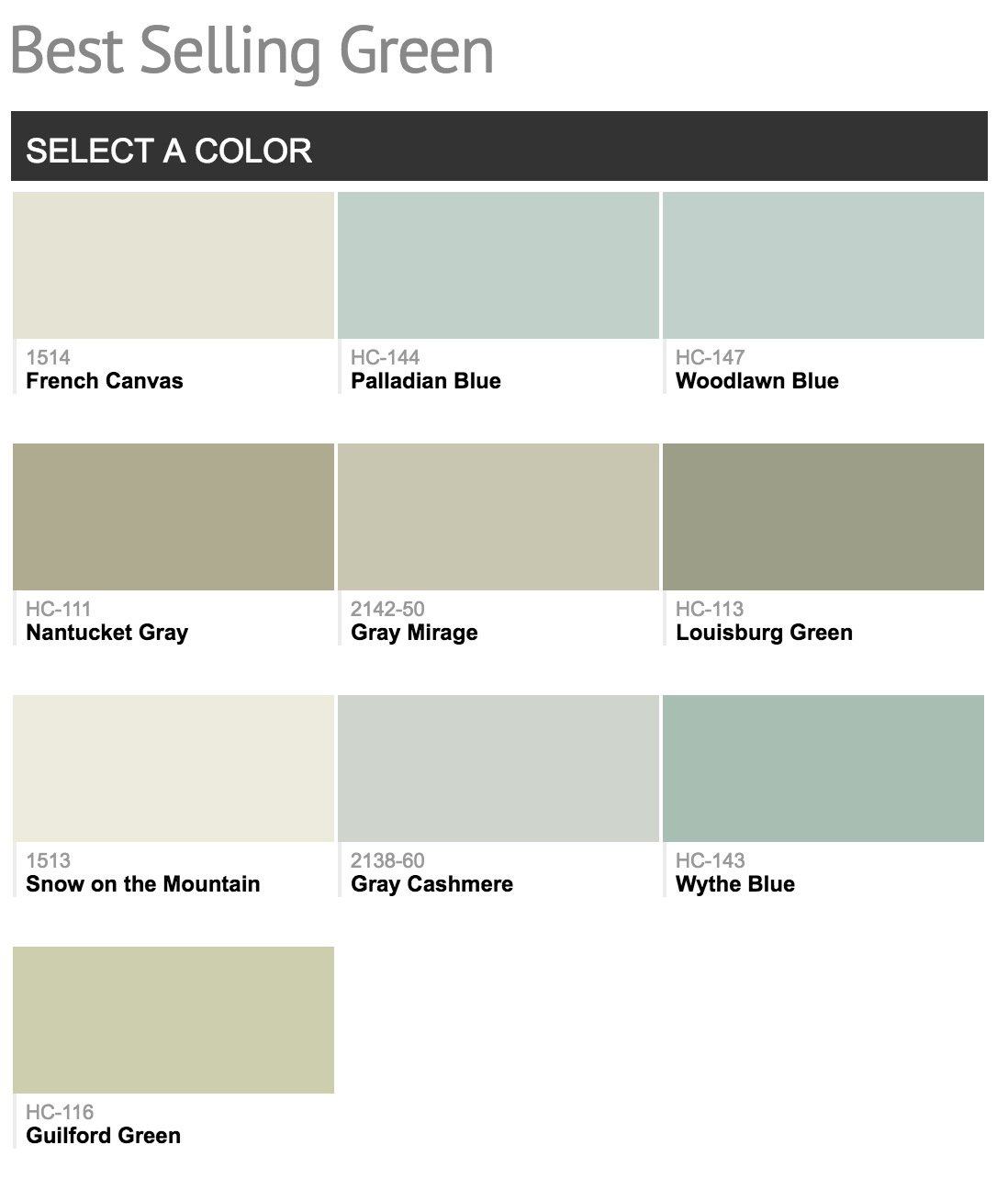 Best selling benjamin moore paint colors Green grey paint benjamin moore