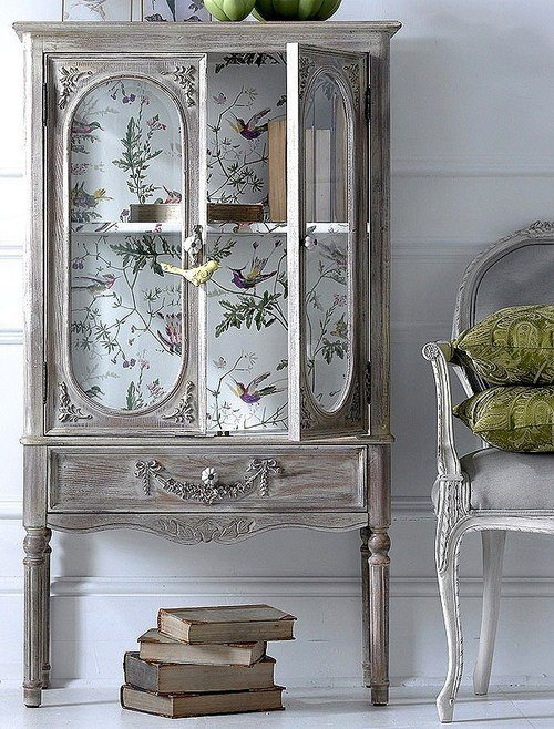 Wallpapered Armoire