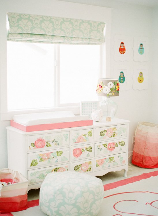 Wallpapered Changing Table