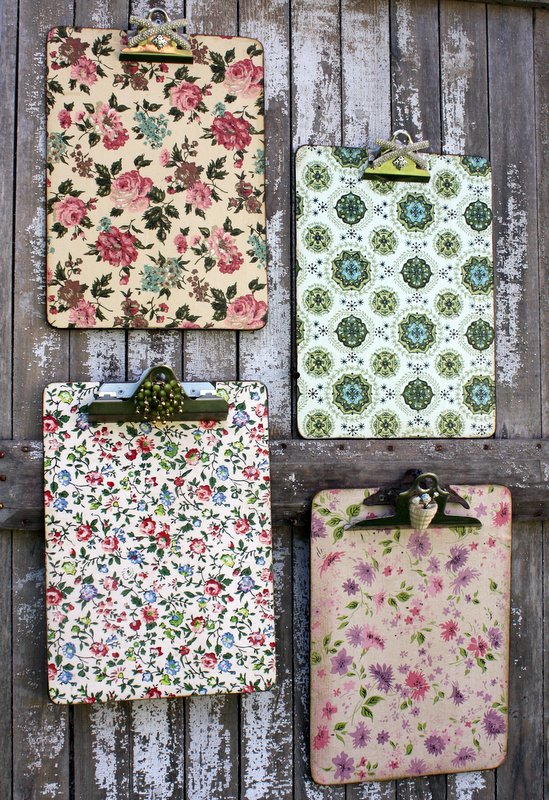Wallpapered Clipboards
