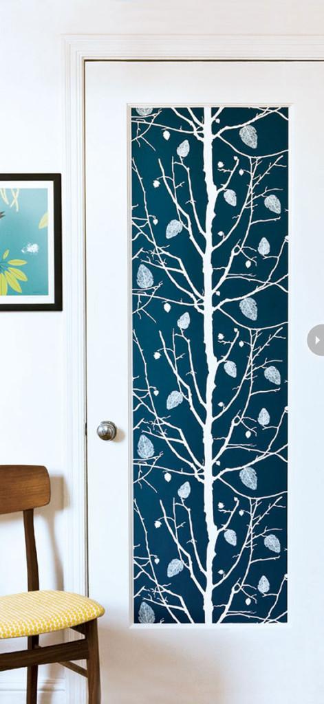 Wallpapered Panel Door