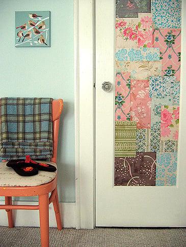 Wallpapered Patchwork Door