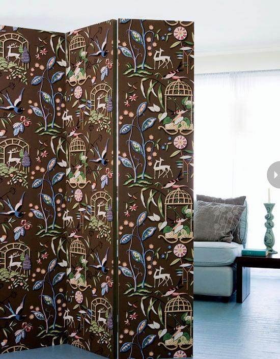 Wallpapered Room Divider