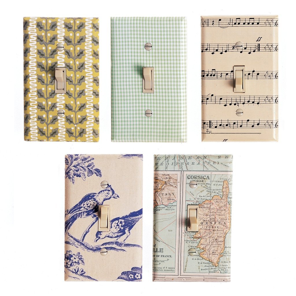 Wallpapered Switch Plate Covers