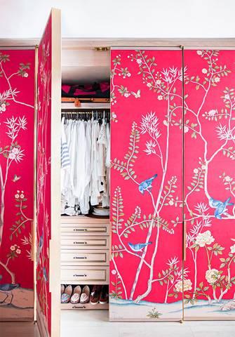 Wallpapered Wardrobe Doors