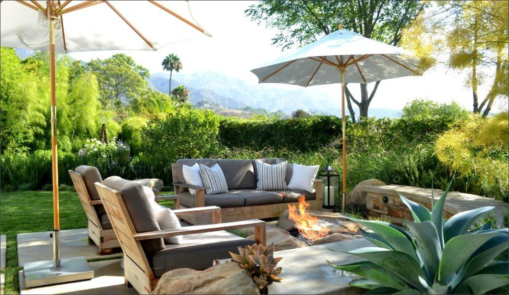 Stunning patio design and fire pit from Jeffrey Gordon Smith