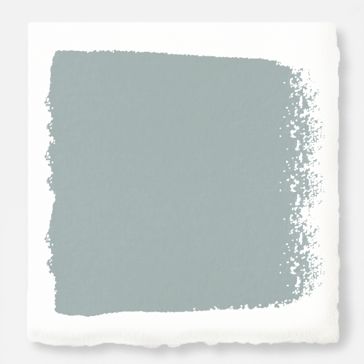 Paint color is Rainy Days from Joanna Gaines Magnolia Home Paint.